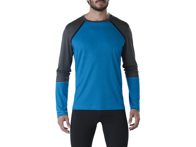 asics LS Top Løbetrøje langærmet Herrer blå | Arm- og benvarmere